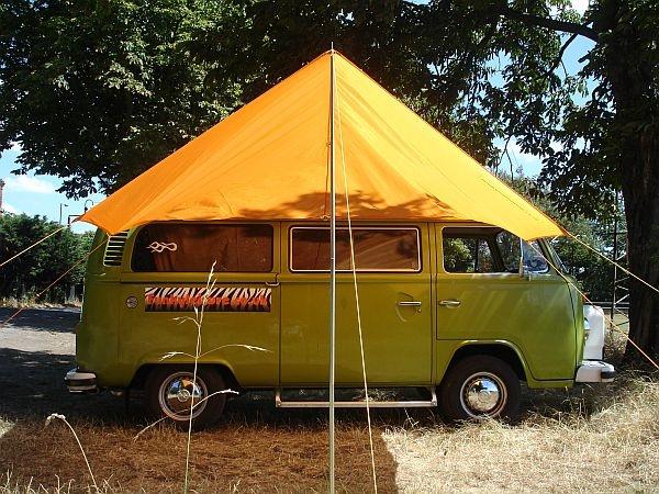 Festival C&ing Backpacking u0026 VW C&ervan Gear u2013 Cool Kit for Travel u0026 VW Road Trips. Amazing C&er Van With Awning ... & VW Campervan Awning Sun Canopy - Orange | VW??Bus? | Campervan ...