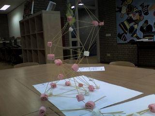 Techniek: constructie en stevigheid: spaghetti met marshmallows