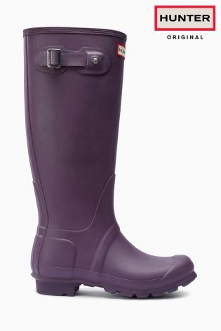 Wellies are always practical and a must have in my shoedrobe  Hunter Original Dark Purple Matte Tall Wellington Boot from the Next UK online shop