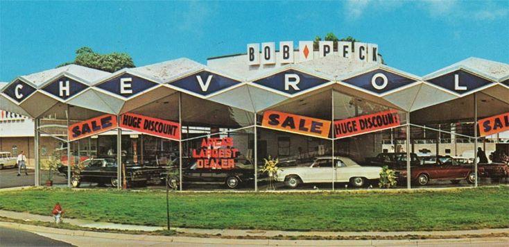 bob peck chevrolet circa 1964 vintage car dealership pics pinterest building and bobs. Black Bedroom Furniture Sets. Home Design Ideas