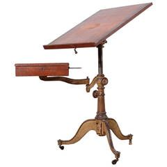 Victorian Cast Iron Artist Drafting Table