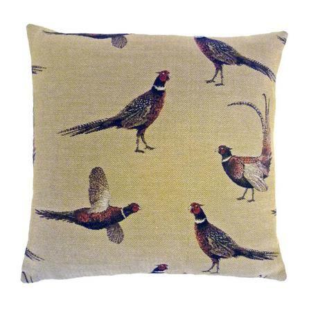 Pheasant Tapestry Cushion #rustic #cushion