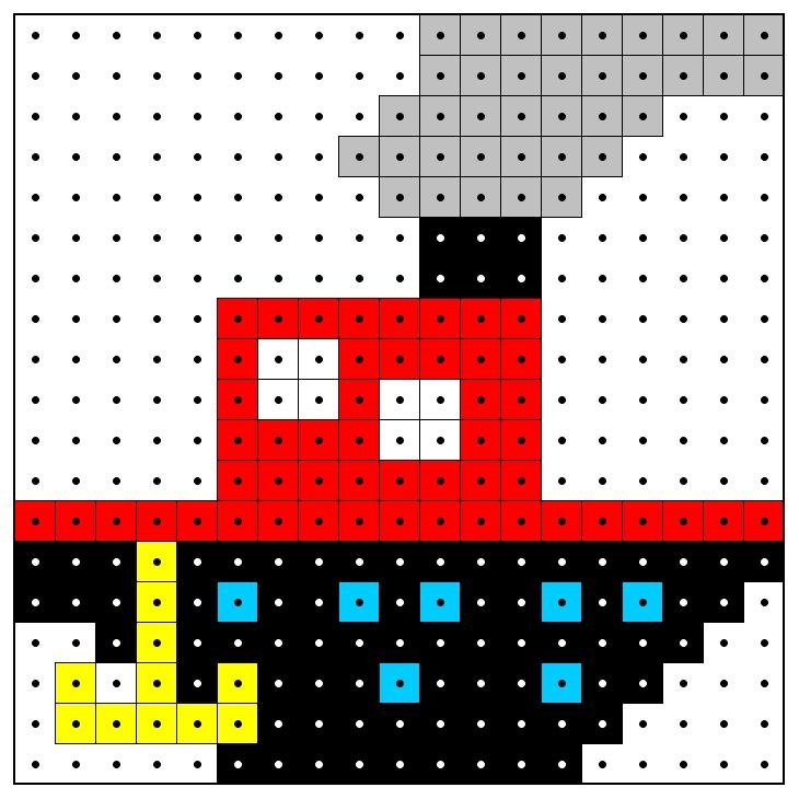 Kralenplank: Stoomboot