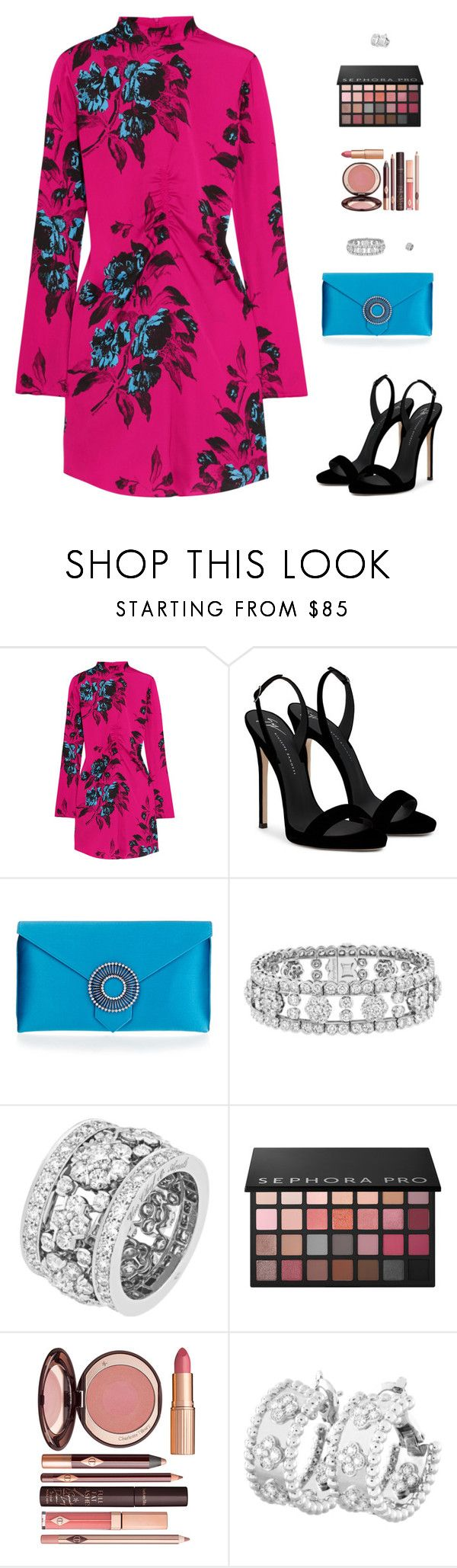 """Untitled #5266"" by mdmsb on Polyvore featuring McQ by Alexander McQueen, Giuseppe Zanotti, Wilbur & Gussie, Van Cleef & Arpels, Sephora Collection and Charlotte Tilbury"