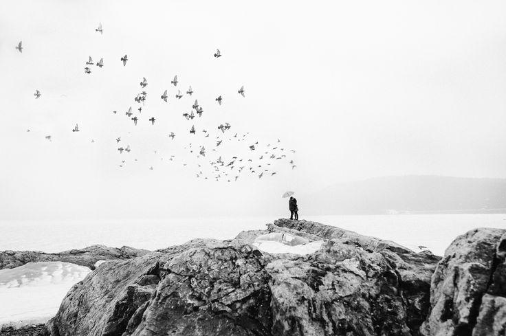 Lake Minnewanka (Banff) Rocky Mountains - shoot from engagement session