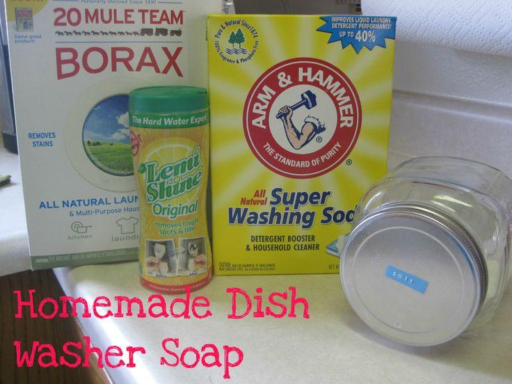 17 best images about diy dishwasher detergent on - Dish washing tips ...