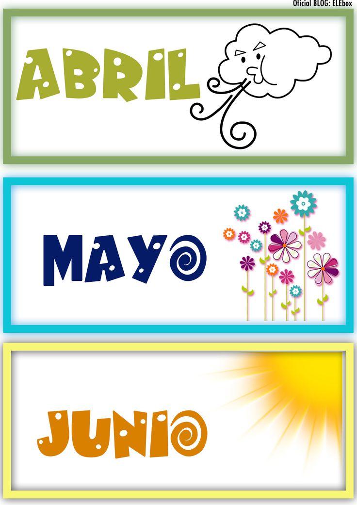 Los meses del año. Abril, Mayo y Junio