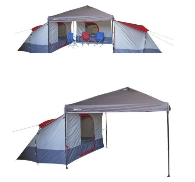 Family Camping Tent 4 Person Large Equipment Outdoor Cabin Hiking Gear