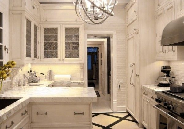 143 best images about kitchen remodel project on pinterest for Galley kitchen designs with peninsula