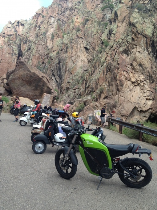 Brammo Blog: Red Rock, Tunnels Ride and FUN at CampScoot 2012.