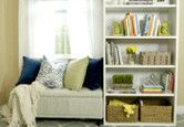 Get the easy steps for assembling your own window seat with a couple of budget-friendly furniture pieces.