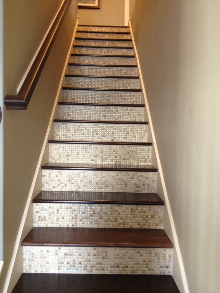 15 Best Images About Tiled Stair Riser On Pinterest