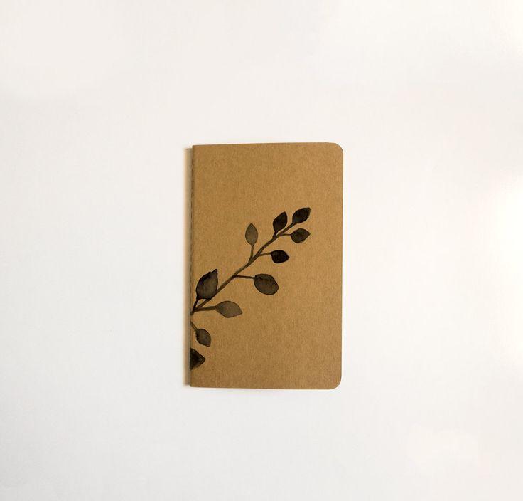 Hand Illustrated Mini Moleskine Lined Journal: Botanical by CarlaEllisCreative on Etsy