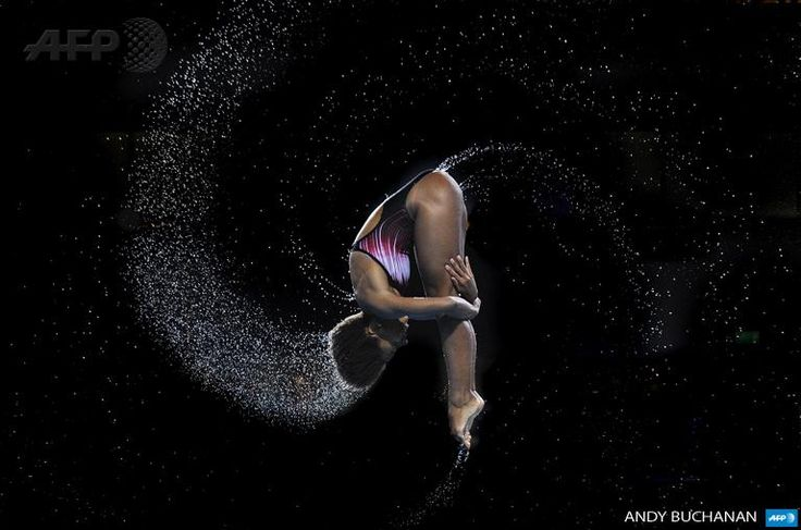 #PHOTO Jennifer Abel of Canada competes in springboard diving during the Commonwealth Games. Photo by Andy Buchanan (Source: Agence France-Presse on Twitter)