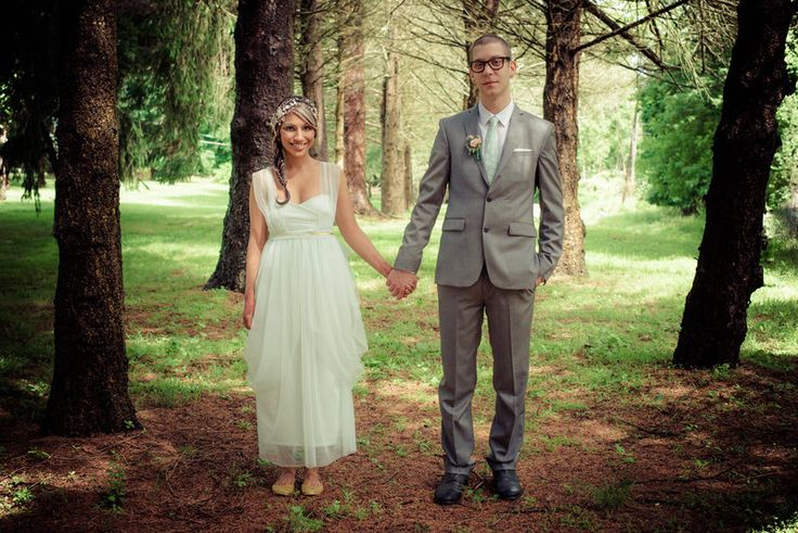 Bride and groom formal portrait in the woods Jenica+Josh Photo By Sherry Sutton Photography