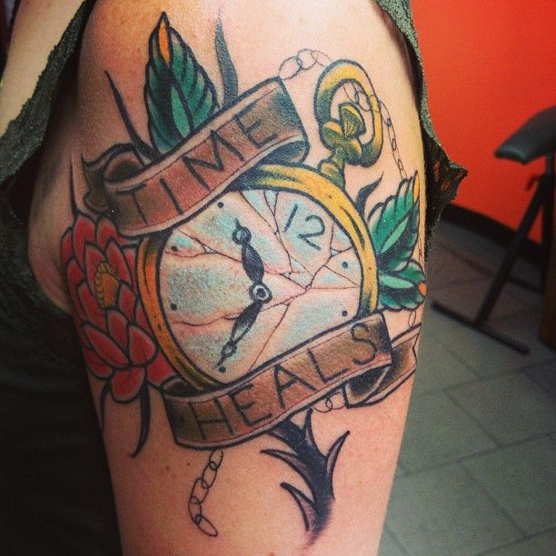 Traditional Tattoos. Pocket watch tattoo by Nick Kelly ...