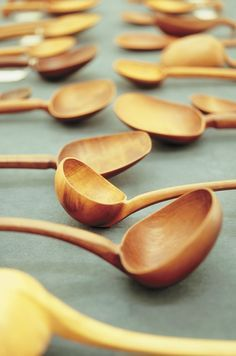 """Levi Borgstrom -  """"Maker of spoons of distinction"""". One of the strongest Lapp crafts is spoon carving and spoons were often worn. Borgstrom's father taught him this traditional craft and many a long northern night was spent whittling spoons, ladles and bowls in front of the fire."""