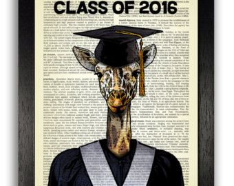 Geeky giraffa nel grande blu occhiali vintage di TopLondonPrints