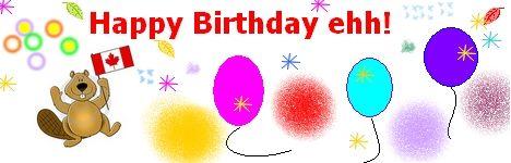 Canadian Birthday wishes