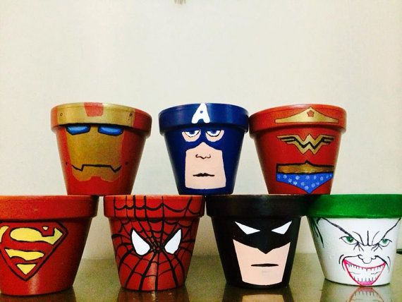 Hey, I found this really awesome Etsy listing at https://www.etsy.com/listing/200280549/superhero-pots
