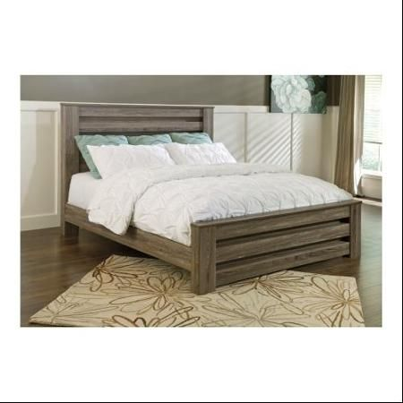ashley b248686699 zelen collection king size poster bed with gently curved feet metal bolt frames and