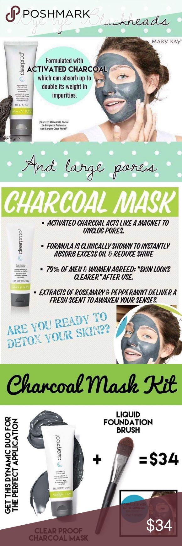 New MK Charcoal Mask--the hottest skincare! Preorder yours today! Mary Kay has nailed it ?? with infusions of honeysuckle ?? and navy bean extract! NO painful peel off (because you should love your face enough). Just a smooth wash off, and it smells amazing! It's gross and cool what you see come out of your skin! Mary Kay's activated charcoal mask pulls 2X it's weight in impurities out of your skin! One tube lasts for 30 masks at a cost of less than $.80 cents per mask. Plus, it's already…