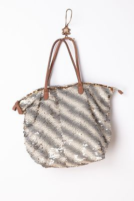 Miss Albright Gilded  Paillettes Tote
