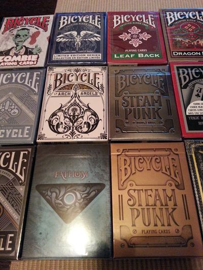 Unique Bicycle Playing card decks.... want them all!!