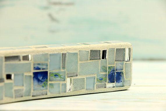 Contemporain cas mezouza mezouza en verre mosaïque par EnnyMosaic