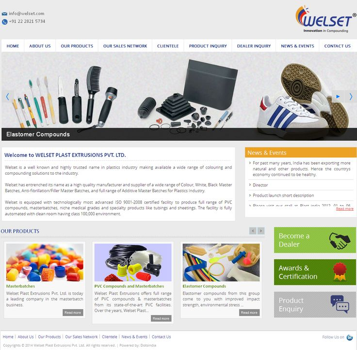WELSET PLAST EXTRUSIONS Website Developed by Dots Info Systems (I) Pvt.Ltd.