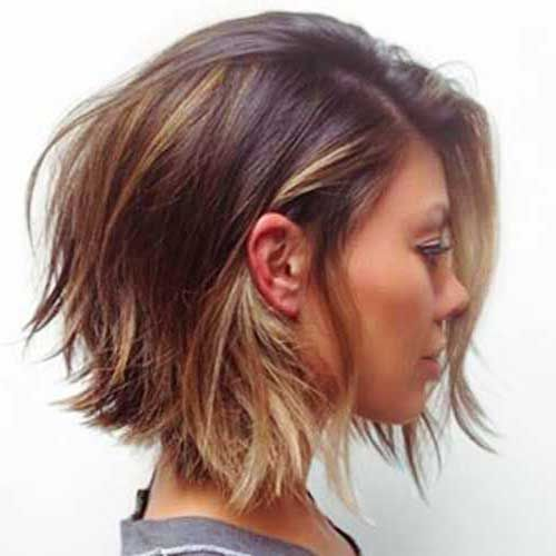 8. Short Layered Bob