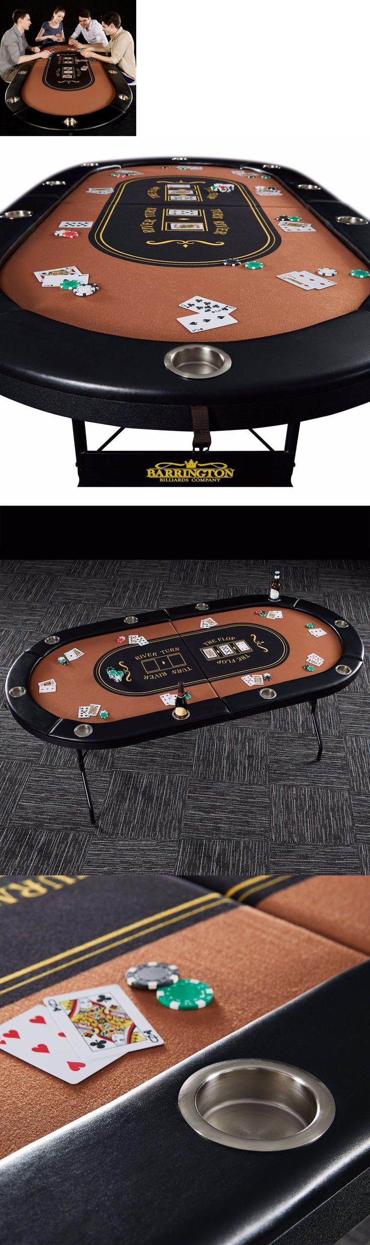 Card Tables and Tabletops 166572: Poker Table 10 Player High Grade Sienna Felt Compact No Assembly Required -> BUY IT NOW ONLY: $181.99 on eBay!