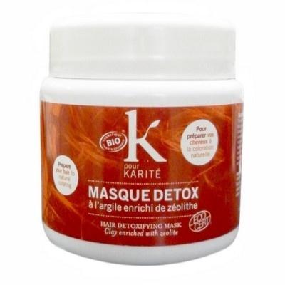 K pour Karité, MASQUE DETOX. Ekologisk lermask för detox av håret inför hårfärgning. En fantastisk hårmask för detox, berikad mer mineraler som rengör håret på djupet från sillikon, kemiska substanser eller tidigare färgämnen. Ger dig en rent & naturligt hår som får en genuin styrka och glans. Nu ka