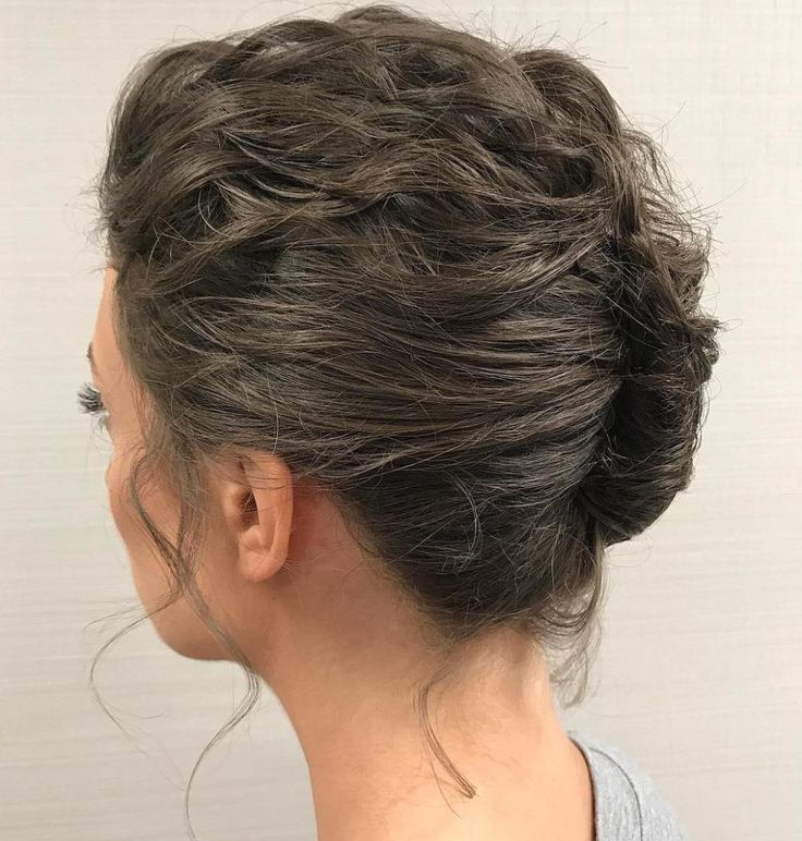 Messy French Roll for Short Hair