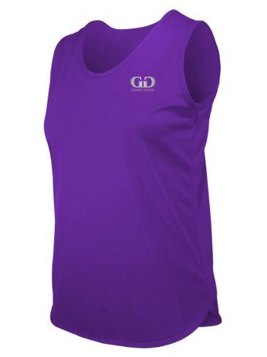 PT903W Women's Cut Single Ply Light Weight Track Singlet-Control Unwanted Odors and Excess Moisture-Great for Competition, Running, or Marathons-Colors Include Black, Green, Navy, Royal, and Purple-Sizes SM-XXXL Game Gear. $12.50