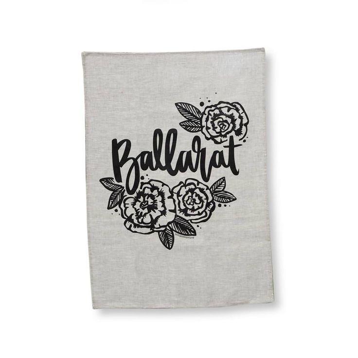 Ballarat Tea Towel - Oatmeal
