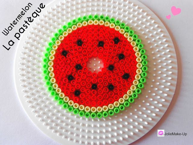 Watermelon - Glas cover hama beads by JolieMake Up