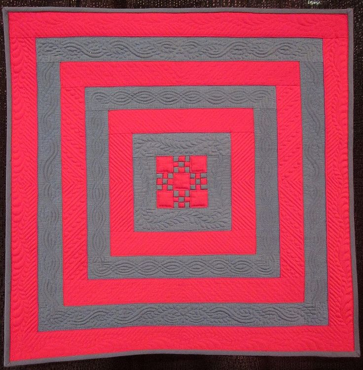 """Square in Square I"" by Diane Loomis (Massachusetts). 2012 Long Beach International Quilt Festival.  Photo by Quilter in the Closet"