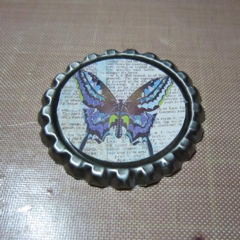 I saw this idea on the web a few months back and asked my hubby to pick up some bottle caps next time he went to the brew supply store. He...