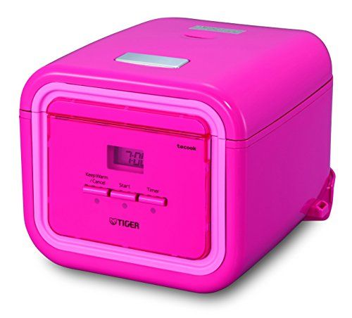 Tiger JAJA55UPP 3Cup Uncooked Micom Rice Cooker with Slow Cooker  Bread Maker Pink -- AMAZON Great Sale