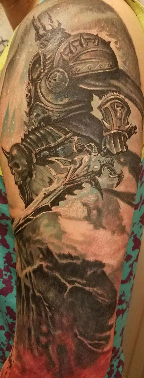 8 Hours in the Tattoo Chair Later... #worldofwarcraft #blizzard #Hearthstone #wow #Warcraft #BlizzardCS #gaming