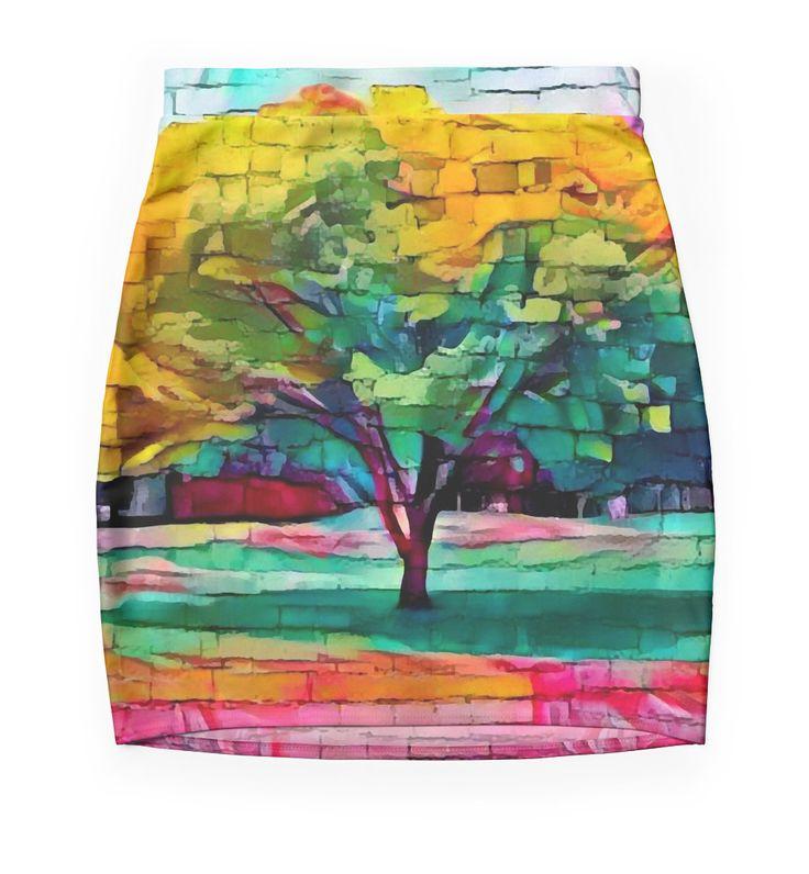 """Tree"" Mini Skirts by siwabudda | Redbubble"