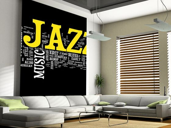 Directly From China Wallpaper Sticker Suppliers Custom 3 D Wall Murals Jazz Music Used In The KTV Bar Sitting Room Background PVC Papel