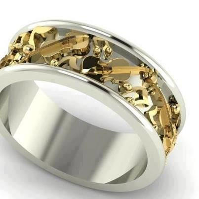 "This Stunning ""Music"" Ring would make  Fabulous Matching Wedding Bands!!"