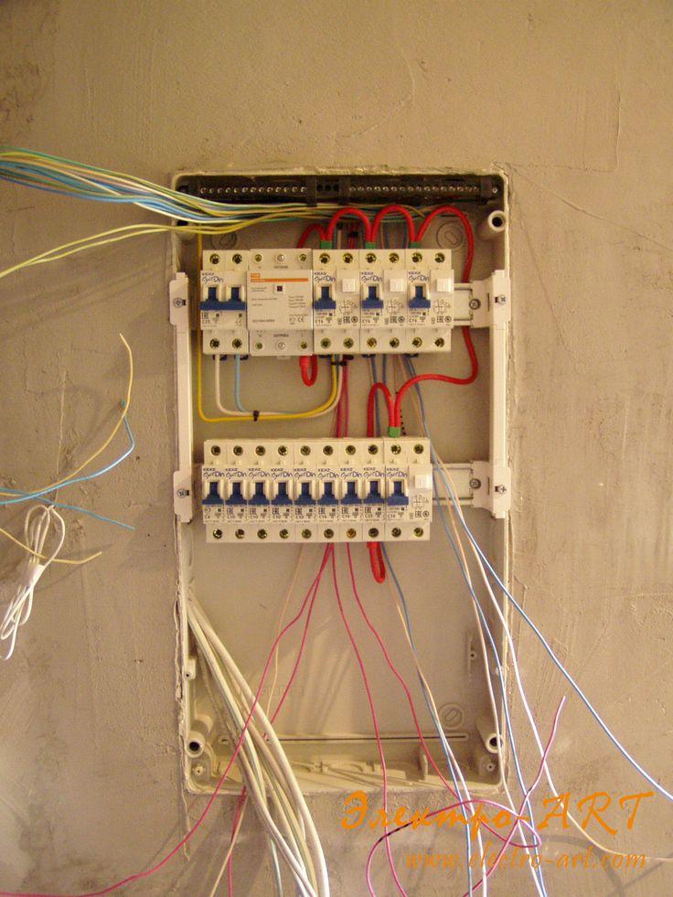 Монтаж автоматов в щит и подключение групповых линий.