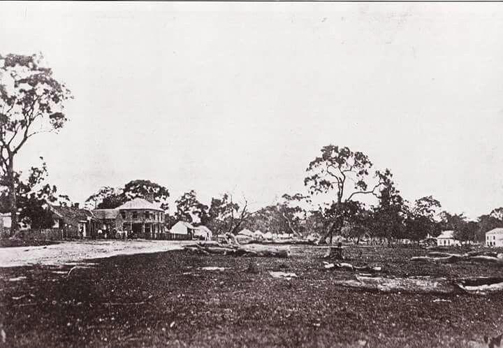 Dandenong in Victoria in the 1850s.