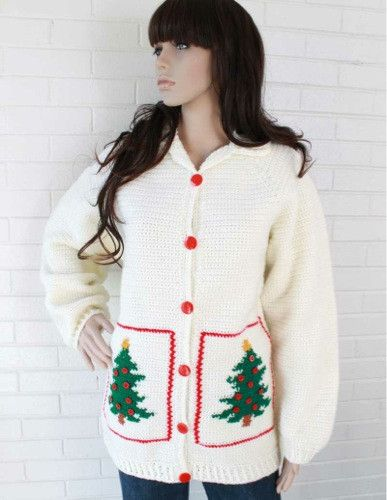 Maggie's Crochet · Christmas Tree Sweater Jacket Crochet Pattern