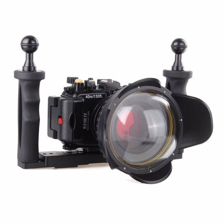 434.00$  Watch now - http://alikja.worldwells.pw/go.php?t=32716190777 - 40M Underwater Waterproof Camera Housing Diving Case for Sony RX100 IV M4 + Red Filter + Fisheye Lens + Two Hands Aluminium Tray