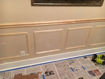 DIY Wainscoting In The Dining Room
