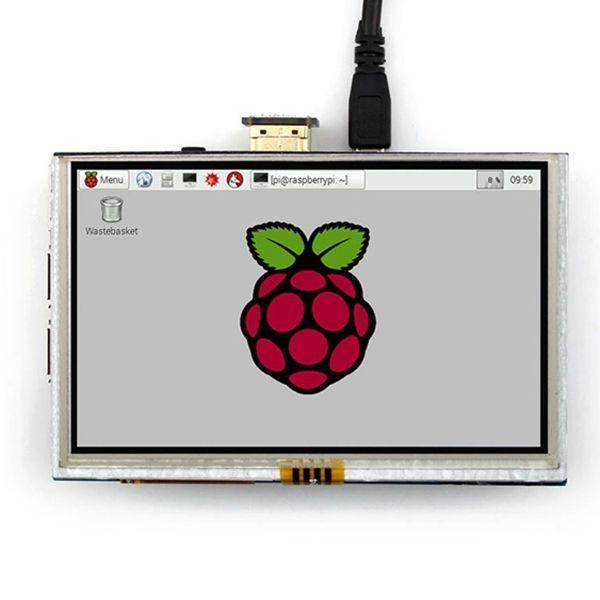 5 дюймов LCD HDMI Сенсорный Экран TFT ЖК-Модуль Панель 800*480 для Banana Pi Raspberry Pi 2 Raspberry Pi 3 Модель B/B +